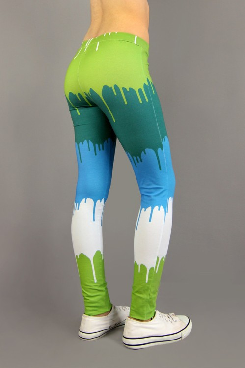 Graffiti Print Leggings by HoverStuff - These crazy drip-tastic pants have been handmade from organic cotton plus 5% elastan. I think they'd suit a Dr Seuss character very well indeed :)