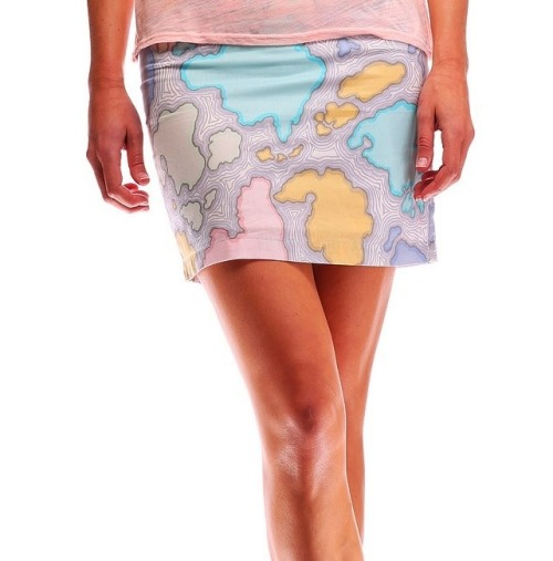 Map Skirt Alden Skirts - Do you know those fantasy books set in imaginary lands where the author has created a map and placed it at the start of the story? Well this skirt reminds me of those :) Particularly Ursula Le Guin's Earthsea Quartet! Each of these skirts is created by a single mother working at home, with portion of the profits going to a non-profit organization providing health care for children in Central America and the Caribbean