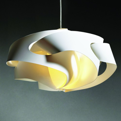 Tempest Light Shade by InHouse Space - The wonderful dreamy soft swirls of this chic light shade are made from 100% recycled plastics. Turn it on to illuminate your next creative endeavour
