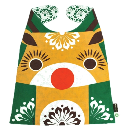 Giant Reindeer Bib from Little Frenchy -Such a striking and distinctive reindeer design on this 100% certified organic cotton bib for kids aged 2 to 4